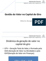 Gestão do Valor no Capital de Giro