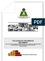 Examen Ebr Primaria Lima Metropolitana