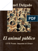 [Manuel Delgado] El Animal Publico Hacia Una Antr(Bookos.org)