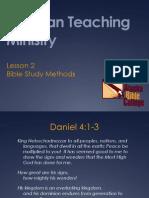 2 Bible Study Methods