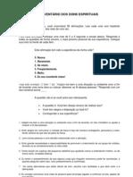 Inventario Dons Espirituais Resumido 2011