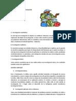 documentos relacionados con los tipos y niveles de investigación