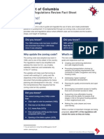 DC Office of Planning Zoning Regulations Review fact sheet