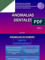 ANOMALIAS DENTALES