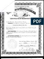 PCG Certificate of Incorporation 1989