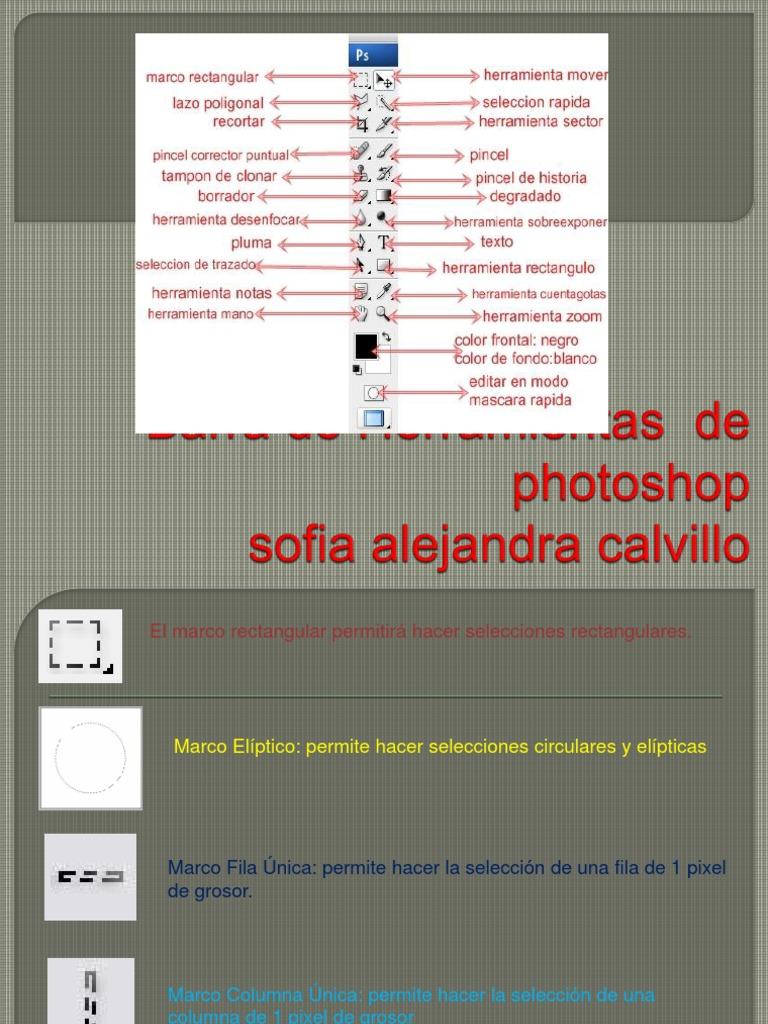 Barra de Herramientas de Photoshop