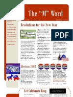 MEUSANewsletterJanuary2008