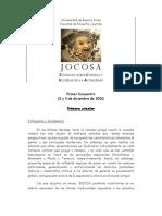 J O C O S A -      1ª Circular