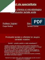 Analiza fizico chimica si microbiologica a produselor lactate acide