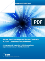 SSH User Keys and Access Control in PCI-DSS Compliance Environments