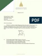 Resignation Letter of Sen. John F. Kerry (D-Mass.)