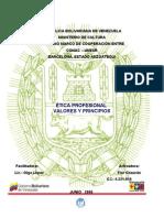 ÉTICA PROFESIONAL - VALORES Y PRINCIPIOS