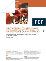 O PATRIOTISMO CONSTITUCIONAL NA EFETIVIDADE DA CONSTITUIÇÃO