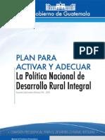 Plan Para Activar y Adecuar PNDRI