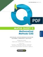 Mathematical Methods CAS - Maths Quest 11