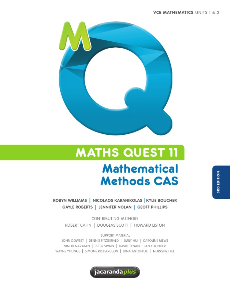 Mathematical Methods CAS - Maths Quest 11 | Quadratic Equation ...