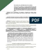 La Reforma Educativa. Información completa.