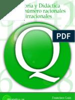 Francisco Luis Flores Gil - Historia y Didactica de Los Numeros Racionales e Irracionales