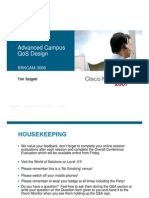 Cisco Networkers 2007-Advanced Campus QoS Design
