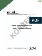 Pedoman Penyusunan Spesifikasi Teknis Bendungan