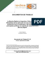 La Brecha Digital en Argentina, Chile y Uruguay (2002)