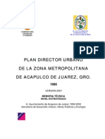 Plan Director de Desarrollo Urbano-2001