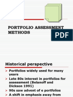 Portfolio Assessment Methods