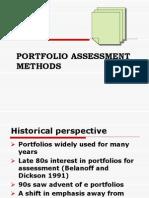 Portfolio Assessment Methods