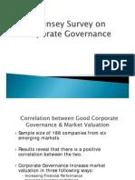 Mckinsey Survey on Corporate Governance