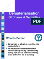 how to dematerialised shares.