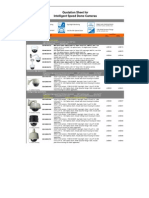 Distributing Price List of High Speed Dome Cameras (Linovision_2011)