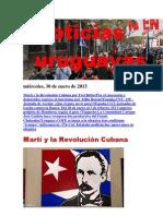 Noticias Uruguayas miércoles 30 de enero del 2013