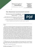 One dimensional nanostructured materials