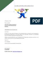 AMENDMENT TO VAT & NBT ACTS