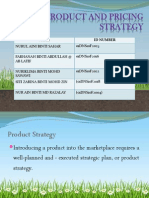 PRODUCT & PRICING STRATEGY