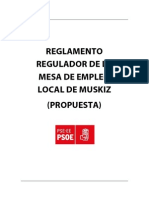 Reglamento Regulador Mesa Empleo Local