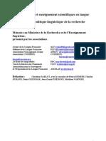 Mémoire au Ministère de la Recherche et de l'EnseignementSupérieur,présenté par les associations :Avenir de la Langue Française