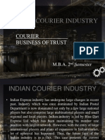 Indian Courier Industry