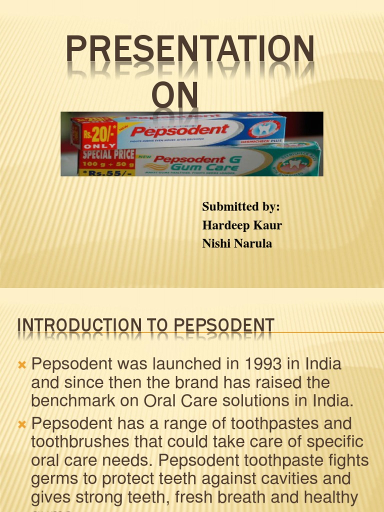 pepsodent toothpaste history