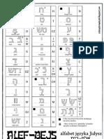 Alef-Bejs - alfabet języka Jidysz