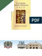 Calendar Crestin-Ortodox 2013