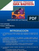 Historia de Laq Psicologia Pea