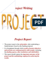 project writing