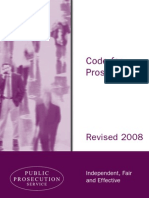 Code for Prosecutors Including a Code of Ethics - Northern Ireland