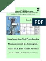 TEC guidelines on EMF testing