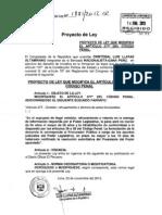 Proyecto de ley que modifica el artículo 377 del Código Penal peruano