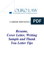 Resumes & Cover Letter Tips
