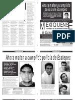 Versión impresa del periódico El mexiquense 30 enero 2013
