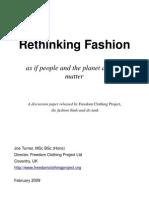 Rethinking fashion