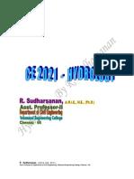 Hydrology - R. Sudharsanan - Unit I - Hydrology Cycle & Precipitation